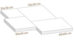 Formats paviments gruixos Mosaics Planas