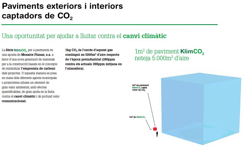 KlimCO2 superfícies captadores del CO2 ambiental (totes les mides) | Mosaics Planas image 2